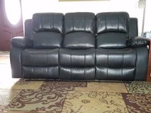 BLACK  leather reclining Sofa & loveseat in Houston, Texas