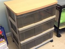 Rolling 3 drawer storage cart in Plainfield, Illinois