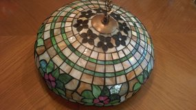 Stained Glass Old hanging lamp 19 inch in Elgin, Illinois