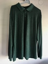 New without tags - Deep Green Wicking Long Sleeve Polo Style Shirt, Size: XL in Stuttgart, GE