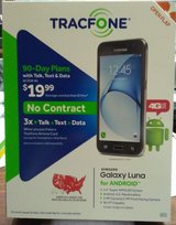 Tracfone with 3 Years Service, 4465 Minutes, Brand New Samsung Galaxy Luna , 4462 Text, 4490 MB ... in Alamogordo, New Mexico