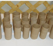 Cardboard tubes in Fort Polk, Louisiana