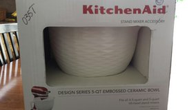 REDUCED KitchenAid Designer Series 5-qt Embossed Ceramic Bowl in Plainfield, Illinois
