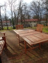 Teak Wood Outdoor Table and Chairs (SEATS 6-8) in Wiesbaden, GE