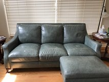 Two teal blue leather couches, each 78 inches in Chicago, Illinois
