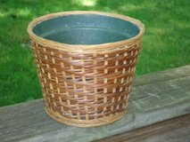 wicker planter in Wheaton, Illinois