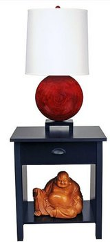 Nouvelle End Table or Night Stand (Black) - NEW! in Naperville, Illinois