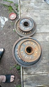 95lbs in Olympic style weights in Fort Lewis, Washington