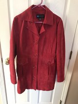 Red suede thigh length jacket in Palatine, Illinois
