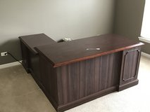 Cherry desk with credenza in Naperville, Illinois