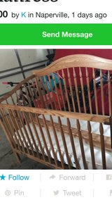 4 in 1 Convertible crib to full size bed in Glendale Heights, Illinois