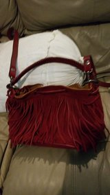 Patricia Nash Suede Fringe Elisa Bucket Bag Berry Red in Houston, Texas