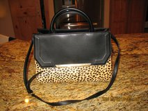 Calvin Klein Black Leather/Cheetah Satchel in Liberty, Texas