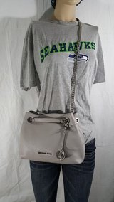 New Michael Kors Jet Set Silver Chain Silver Small Satchel in Fort Lewis, Washington