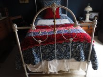 Antique Victorian Brass & Iron Twin Bed in Oswego, Illinois