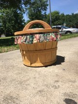 Wooden floral fabric basket in Kingwood, Texas
