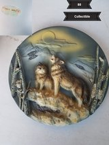 Wolf collectible plate in Vacaville, California