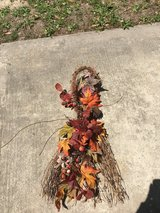 Fall floral swag in Kingwood, Texas