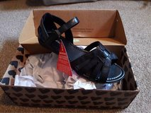 ladies brand new foot cushion black sandals size 4 in Lakenheath, UK