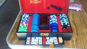 Poker chips and dice in Alamogordo, New Mexico