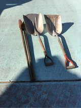 Two large shovels and posthole digger in Alamogordo, New Mexico