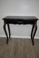 Distressed Black Wood Console Table in CyFair, Texas