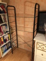 Black Metal Bookcase with 5 Glass shelves in Stuttgart, GE
