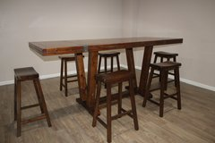 Bar Height Table And 6 Chairs in Houston, Texas