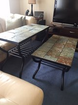beautiful slate top coffee table and sofa table in Fort Knox, Kentucky