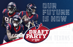 (1-4) TEXANS 2018 NFL Draft Party Tickets - Fri, April 27 - Call Now! in Houston, Texas