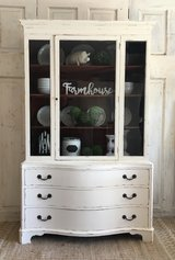 Vintage China Cabinet- Cream in Kingwood, Texas