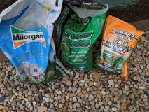 1/2 Used Fertilizer $10 for all or $5 each: Turf Food, Fall Lawn Food & Milorganite in Westmont, Illinois