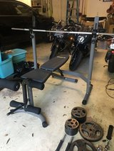 Weight Bench Set with Weights in Houston, Texas