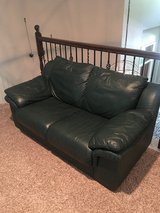 Leather loveseat / couch / sofa - Green leather in Houston, Texas