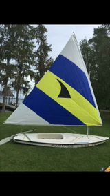 14 ft American Sail Aqua Finn Sailboat w/New Sail in Fort Bragg, North Carolina