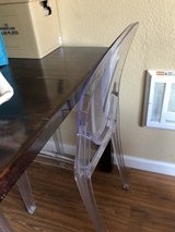 4 clear side dining chairs in Camp Pendleton, California