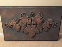 Grape cluster relief wall hanging in Glendale Heights, Illinois