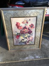 Flower picture professionally framed and matted in Glendale Heights, Illinois
