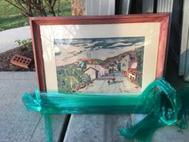 J Anthony Buzzelli artwork - reddish frame in Glendale Heights, Illinois