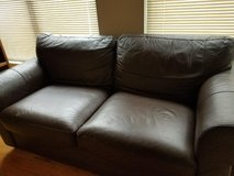 IKEA brown leather couch in Chicago, Illinois
