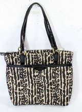 Coach Ocelot tote bag. Leopard black tan in Chicago, Illinois