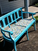 Antique upcycled conversation bench in Camp Lejeune, North Carolina