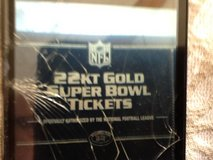 22 KT Gold Super Bowl Tickets officially authorized by the national football league in Wiesbaden, GE