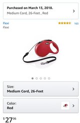 Flexi Cored retractable dog leash in New Lenox, Illinois