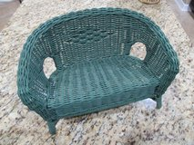 "18"" Doll Rattan Loveseat Settee and Chair in Kingwood, Texas"