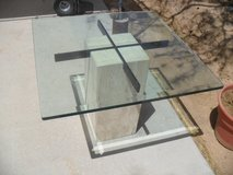 +++  Travertine Glass Top End / Coffee Table  +++ in 29 Palms, California