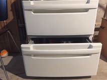 PAIR OF LG WASHER/DRYER PEDESTAL DRAWERS - $80 in Westmont, Illinois