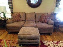 Reduced Leather Sofa & Ottoman in Warner Robins, Georgia