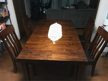 Wooden Dining Table w/hiding leaf in Okinawa, Japan