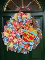 Welcome To Paradise Burlap Wreath in Naperville, Illinois
